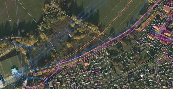 Mapa sítí v lokalitě