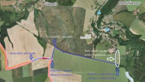 Hartova stezka - mapa