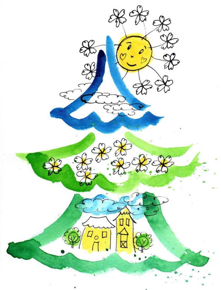 Vánoční strom - ilustrace